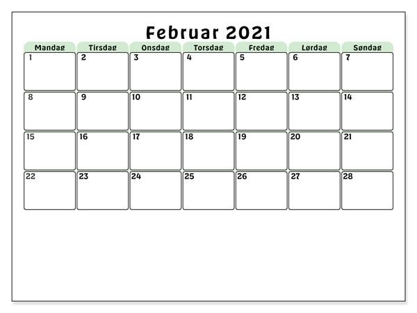 Februar 2021 Feiertags Kalender