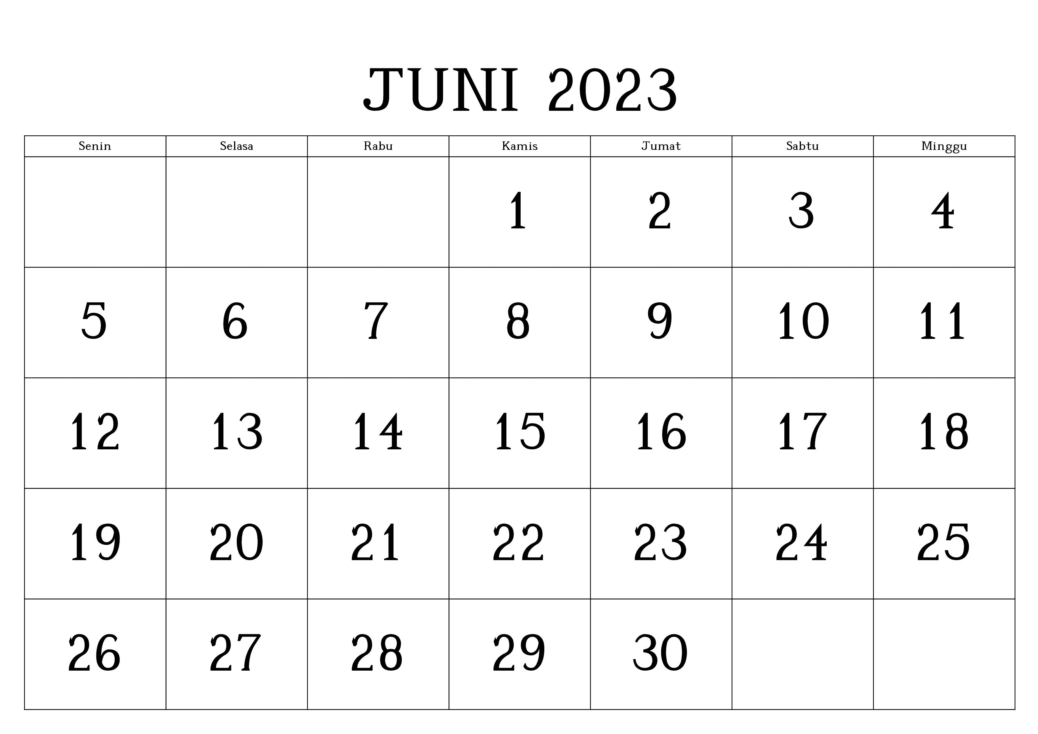Juni 2023 Kalender