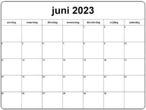 Juni Kalender 2023