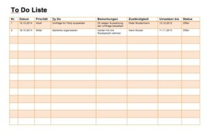 To Do Liste Excel