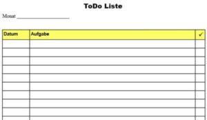 To Do Liste PDF
