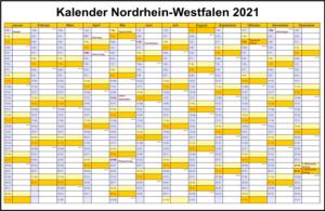 Feiertagen 2021 NRW Kalender