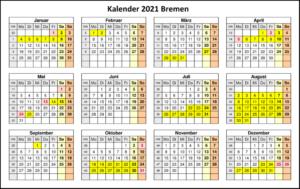 Kalender 2021 Bremen