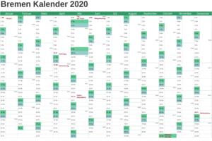 Kalender Bremen 2020 Zum Ausdrucken