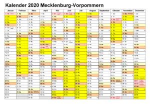 Feiertagen 2020 Mecklenburg-Vorpommern Kalender