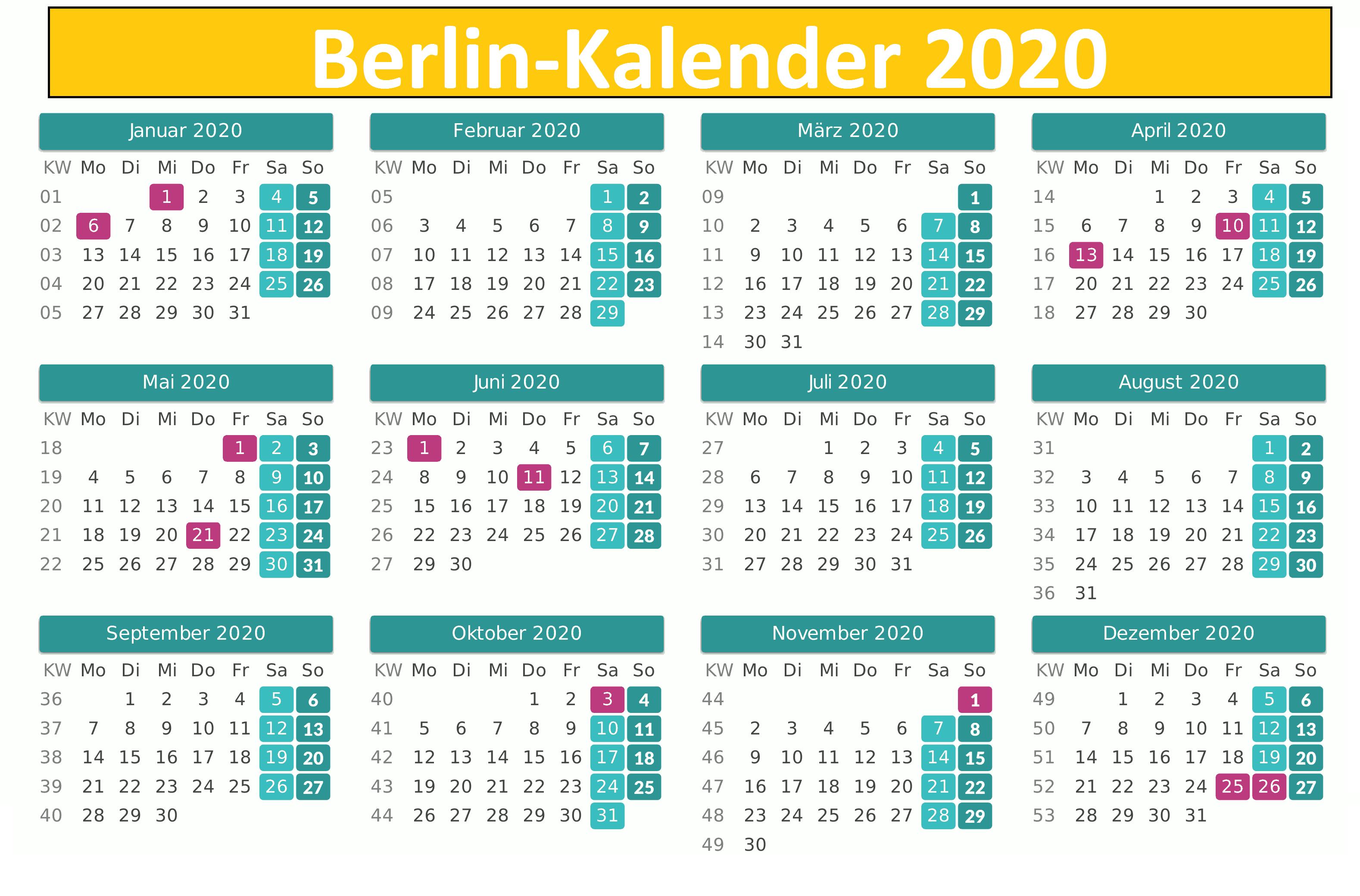 Wann Sind Die Sommerferien Berlin 2020?