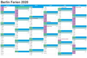 Sommerferien 2020 Berlin Kalender PDF