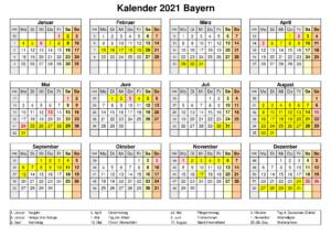 Sommerferien Bayern 2021 Kalender Word