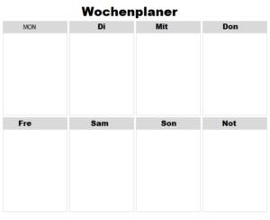 2021 Wochenkalender Excel