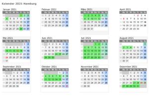 Sommerferien Hamburg 2021 Kalender Word