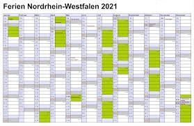 Winterferien Kalender 2021 NRW Drucken