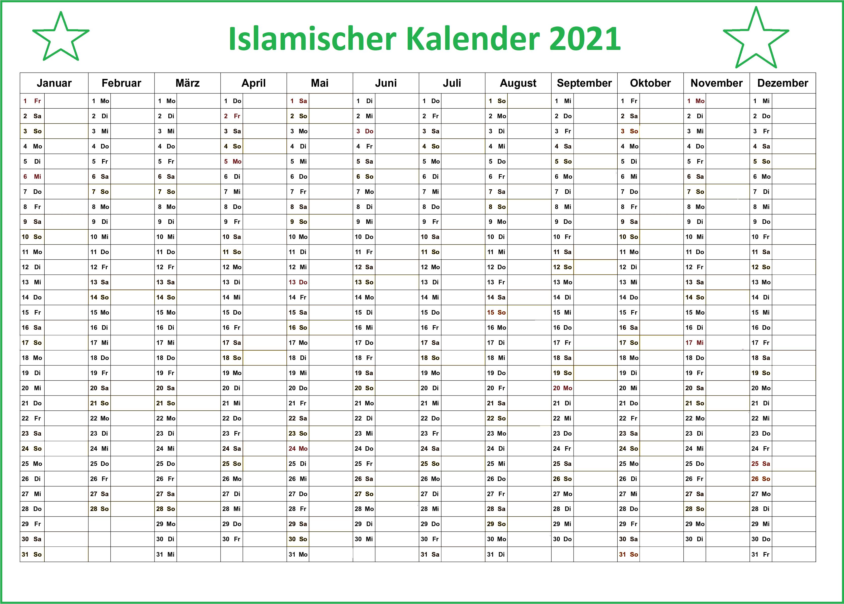 Hijri Kalender 1442 PDF