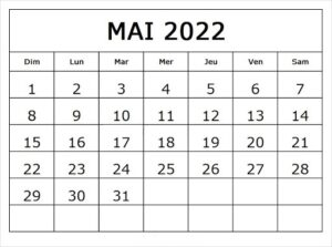 Mai Kalender 2022