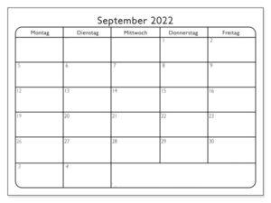 Kalender September 2022 Ausdrucken
